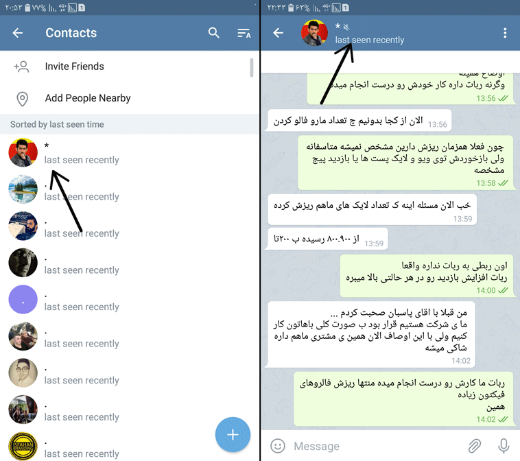 حذف مخاطبین تلگرام