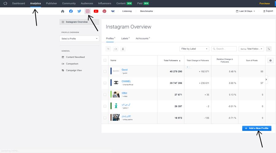 سایت socialbakers برای برای افزایش فالوور در اینستاگرام