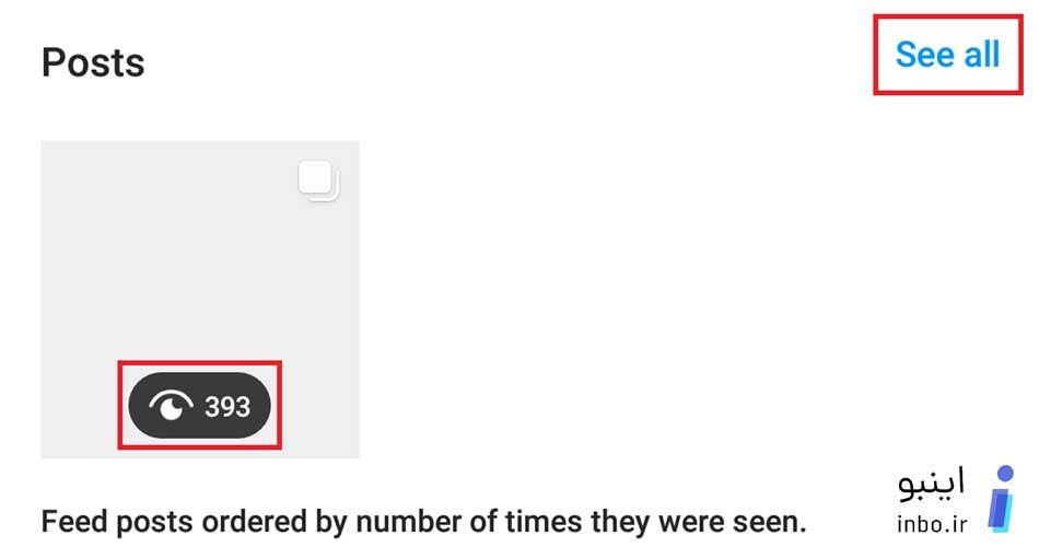 تعداد بازدیدهای پست ها
