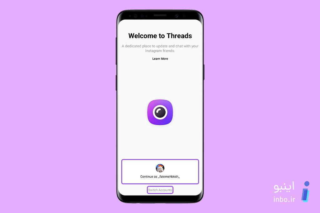 اضافه کردن اکانت به Instagram Threads