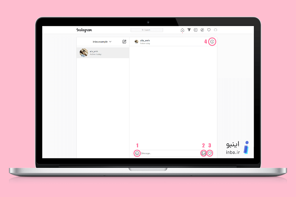 امکانات بخش دایرکت در نسخه وب